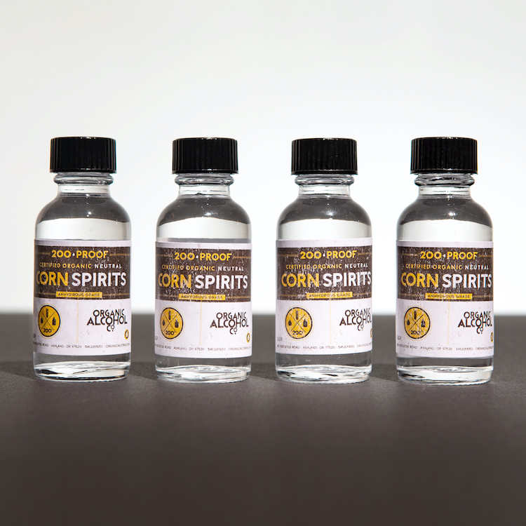 Certified Organic Corn 200-Proof Alcohol Samples