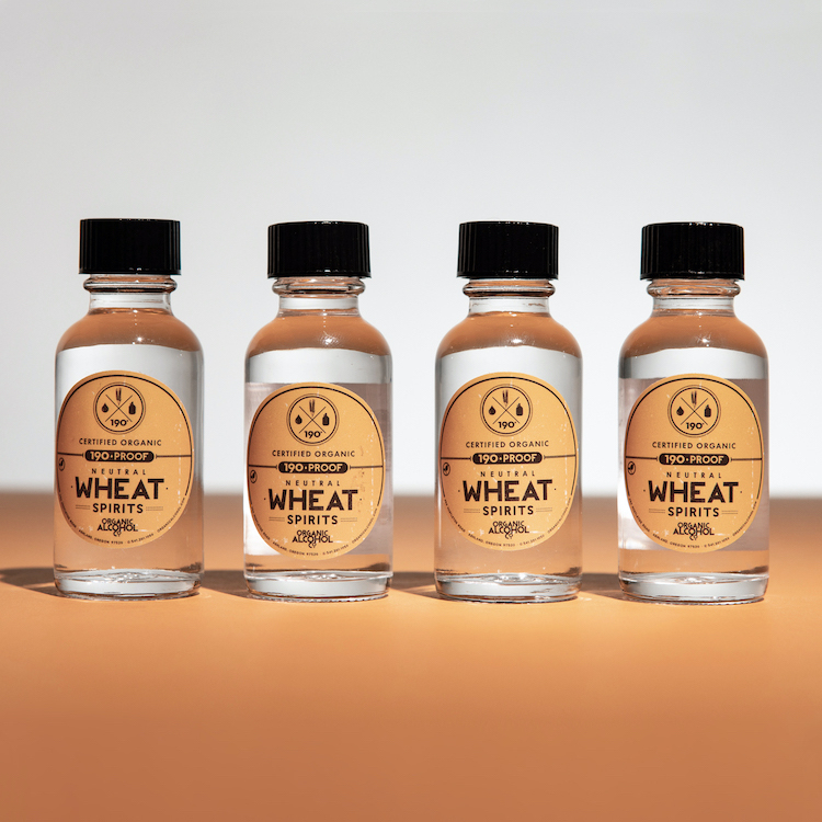 Certified Organic Wheat Alcohol Samples